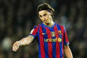 Image of Zlatan Ibrahimovic at Barcelona