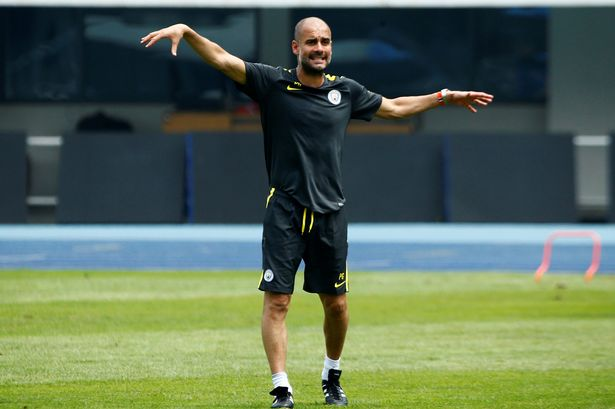 Image of Pep Guardiola, Manchester CIty head coach